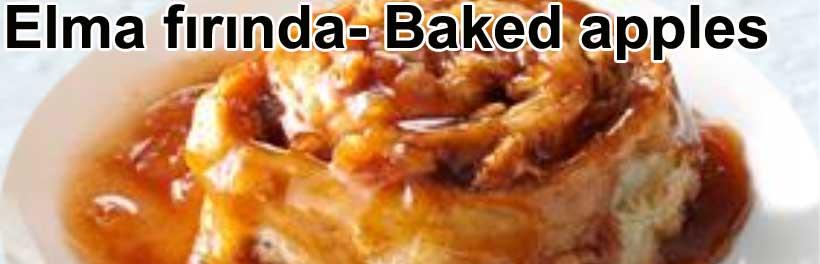 Elma fırında Baked apples nasıli yapılır tarifleri