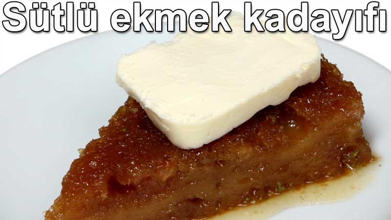 Sütlü kaymaklı ekmek kadayıfı tarifleri tatlılar sütlü tatlılar ve tarifleri