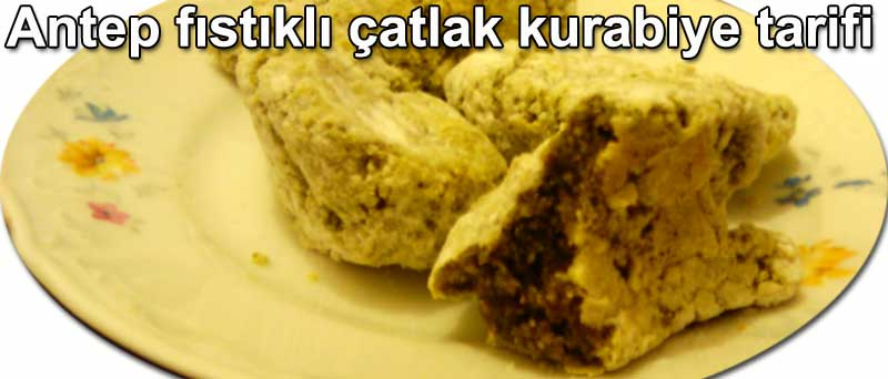 Antep fıstıklı çatlak kurabiye tarifi kek ve kurabiyeler tarifleri