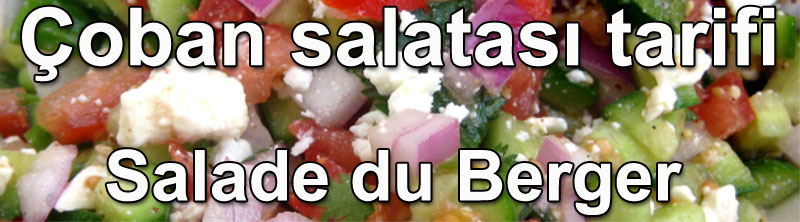 Çoban salatası tarifi - Salade du Berger salata çeşitleri salatalar ve mezeler tarifleri