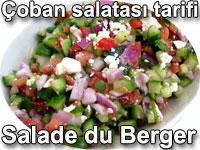 Çoban salatası tarifi - Salade du Berger