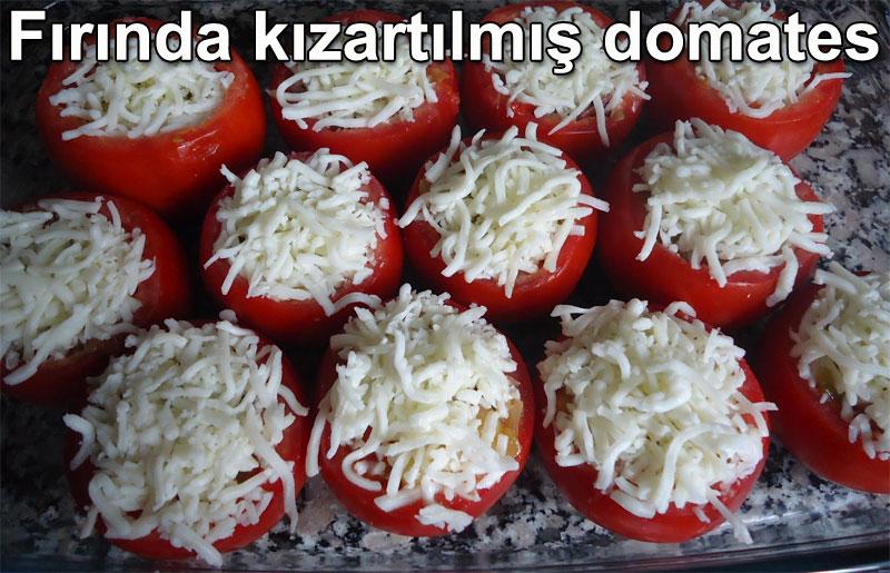 Fırında kızartılmış domates tarifi - Fırında kızarmış peynirli sarımsaklı domates | Garnitür tarifleri - Fırın yemekleri