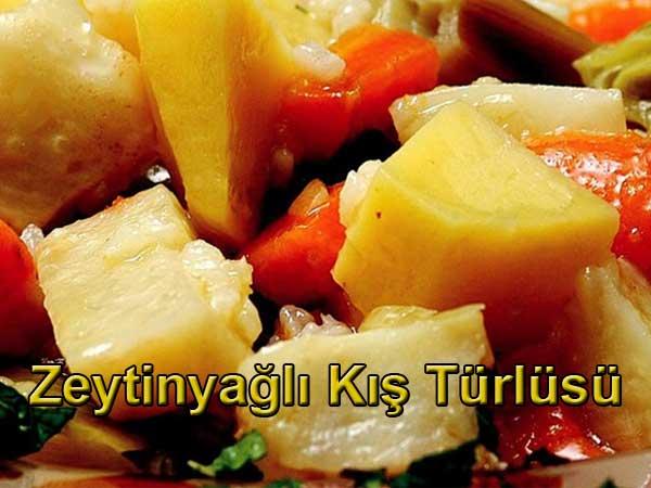Zeytinyağlı kış türlüsü tarifi Kış türlüsü nasıl yapılır