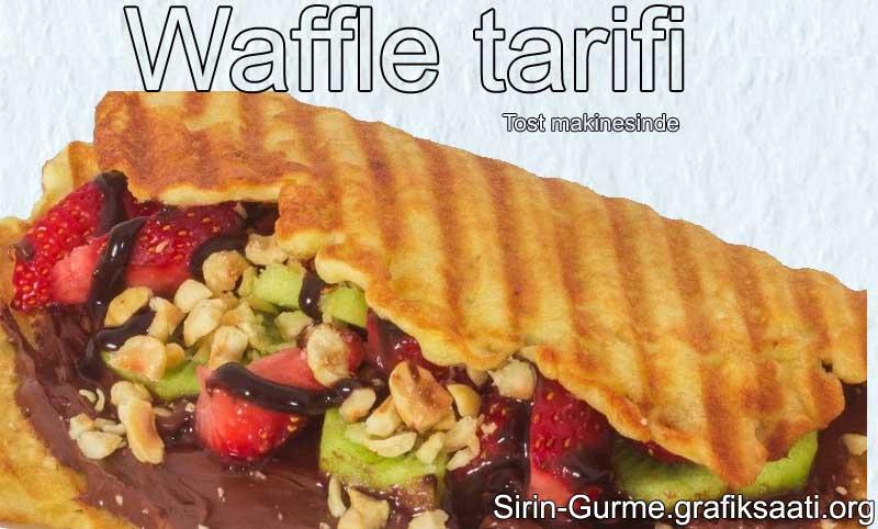 Waffle makinesi olmadan tost makinesiyle Waffle yapımı
